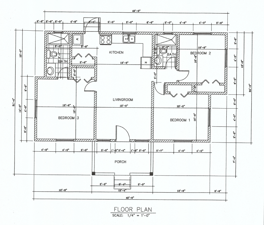 (LA Development )The Pear 3 Bed 2 Bath Floor Plan 1036 sq ft $220K~