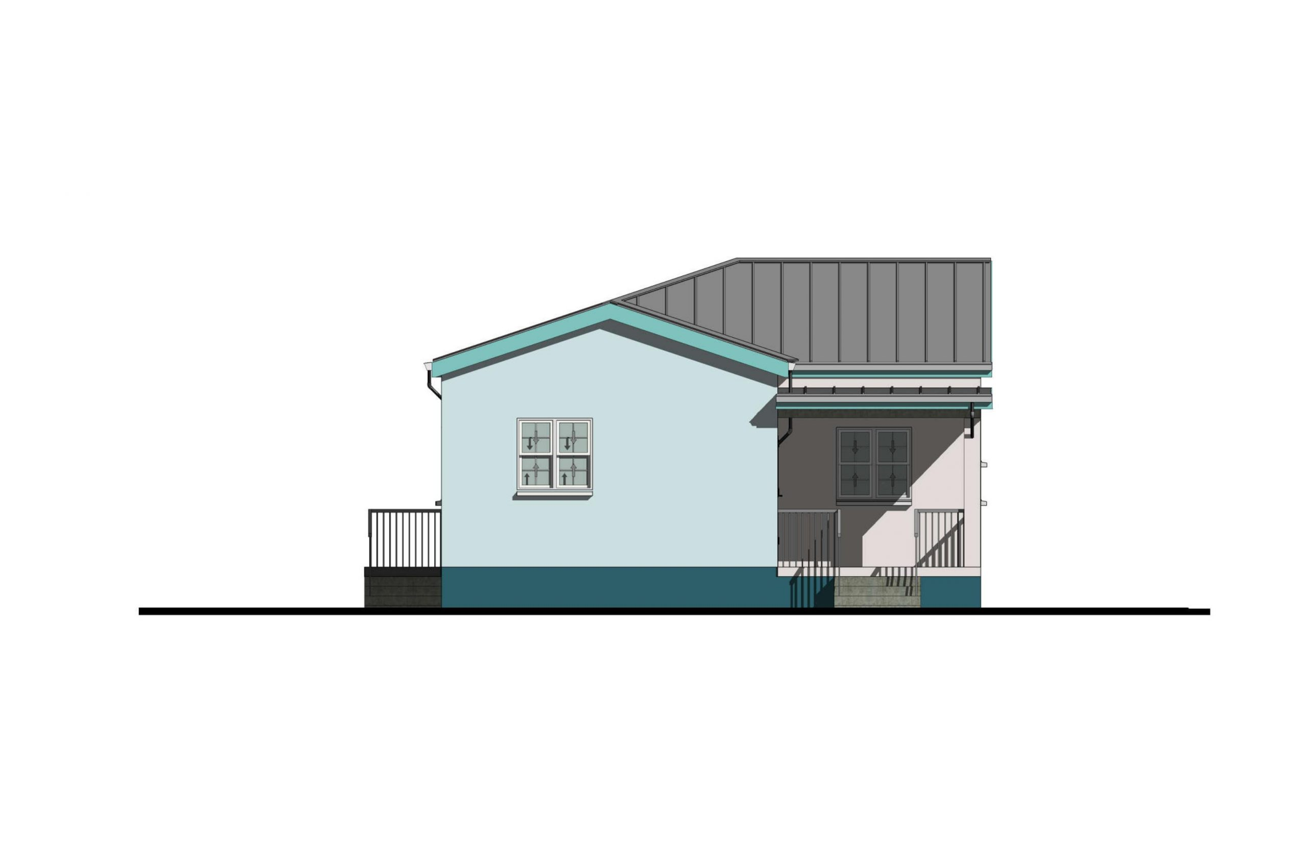 Lodestar 3 Bed  2Bath Option 1 Front Elevation  1060+SQFT